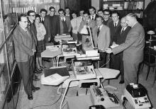 Presentazione delle nuove macchine di calcolo nell'Istituto di ricerche aziendali in Sapienza