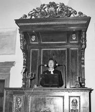 Michela Schiff Giorgini in occasione del conferimento della laurea honoris causa (1971)
